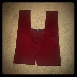 Forever 21 women's burgundy pants (size 6)